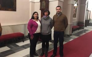 Cristina Serván con los portavoces del equipo de gobierno del Ayuntamiento de Cádiz Ana Fernández y Martín Vila