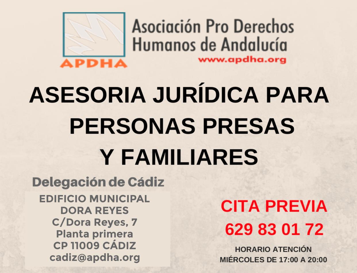Asesoría Jurídica personas presas y familiares