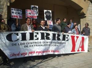 Protesta ante el CIE de Algeciras