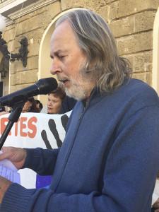 Giuseppe durante su intervención en el acto del Día de los Derechos Humanos en Cádiz