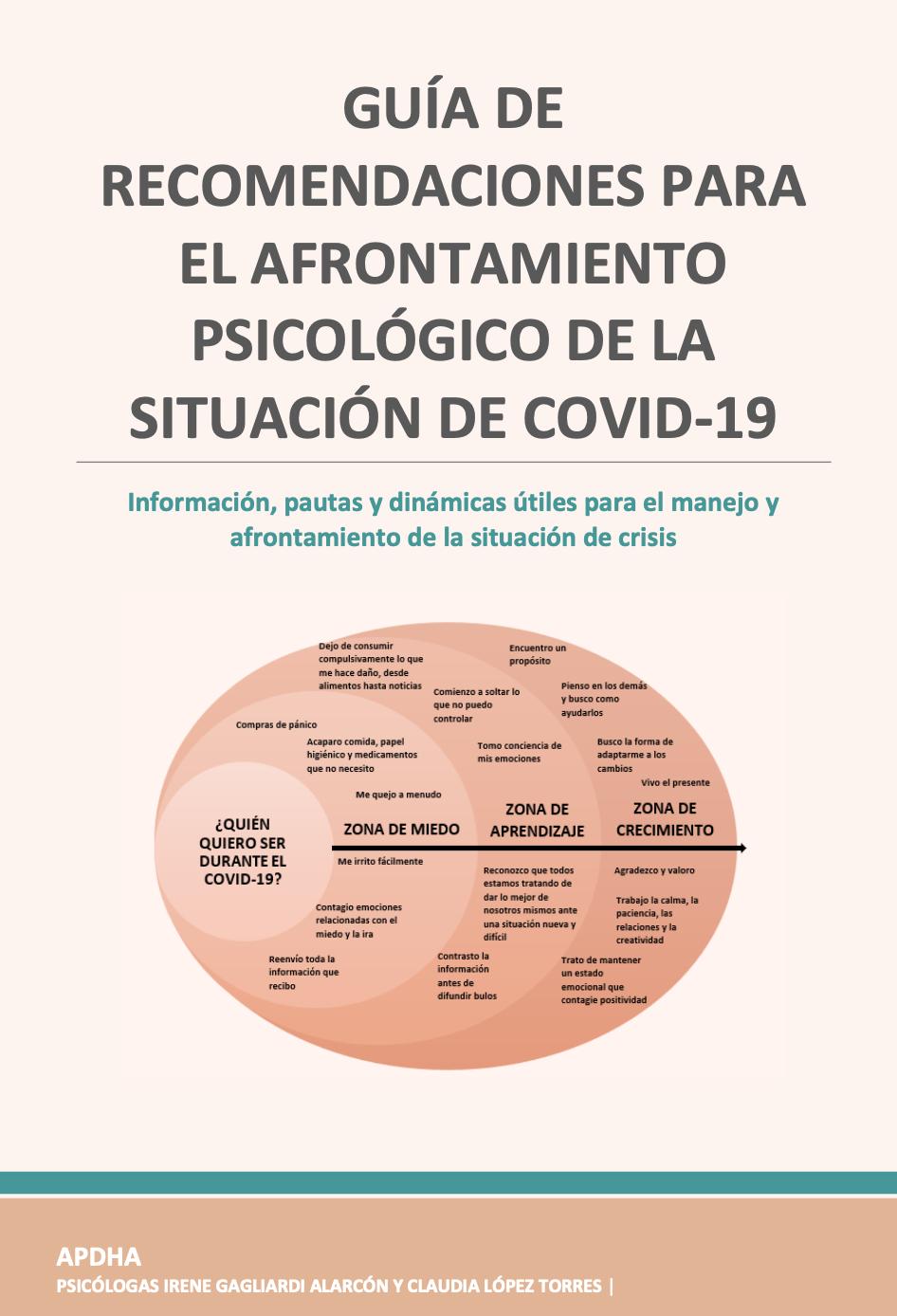 GUÍA DE RECOMENDACIONES ANTE EL COVID-19