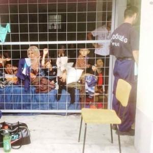 Centro de detención en Grecia