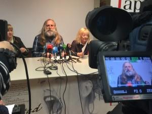 Rueda de prensa donde se ha presentado el manifiesto y la manifestación del día 19 de febrero