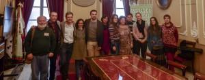 El equipo dela APDHA y los concejales Eva Tubio y Martín Vila