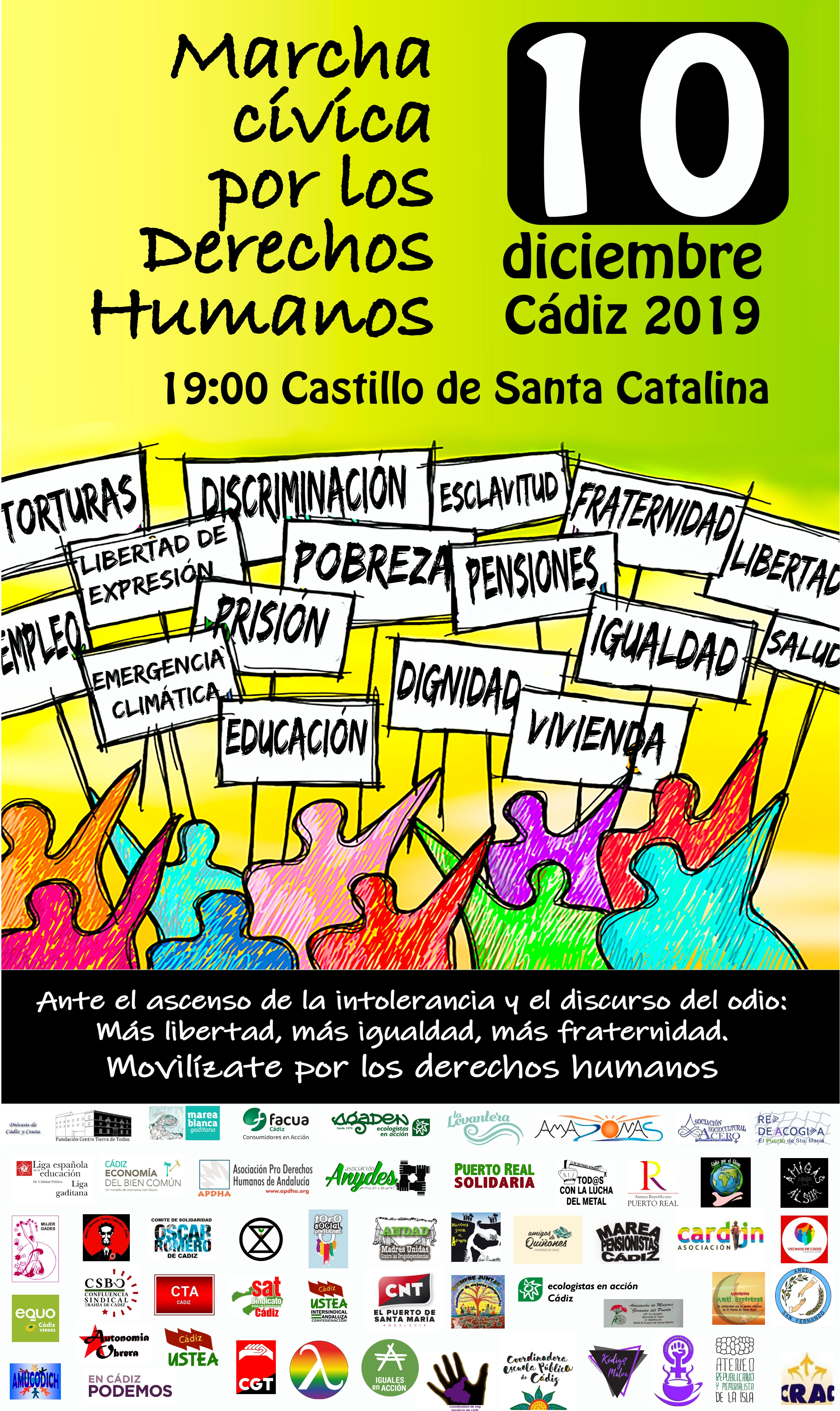 CÁDIZ 10 Diciembre '19 Movilízate por los #DerechosHumanos