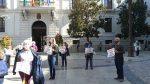 Acto de apoyo a la rueda de prensa en Granada