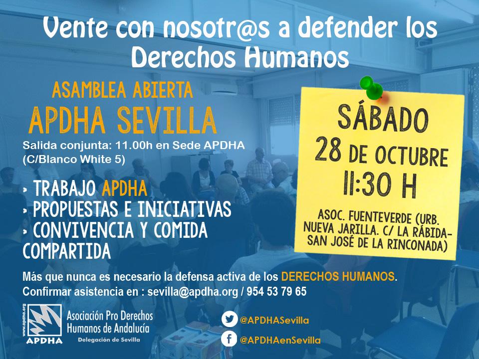 20171007 Asamblea APDHA Sevilla