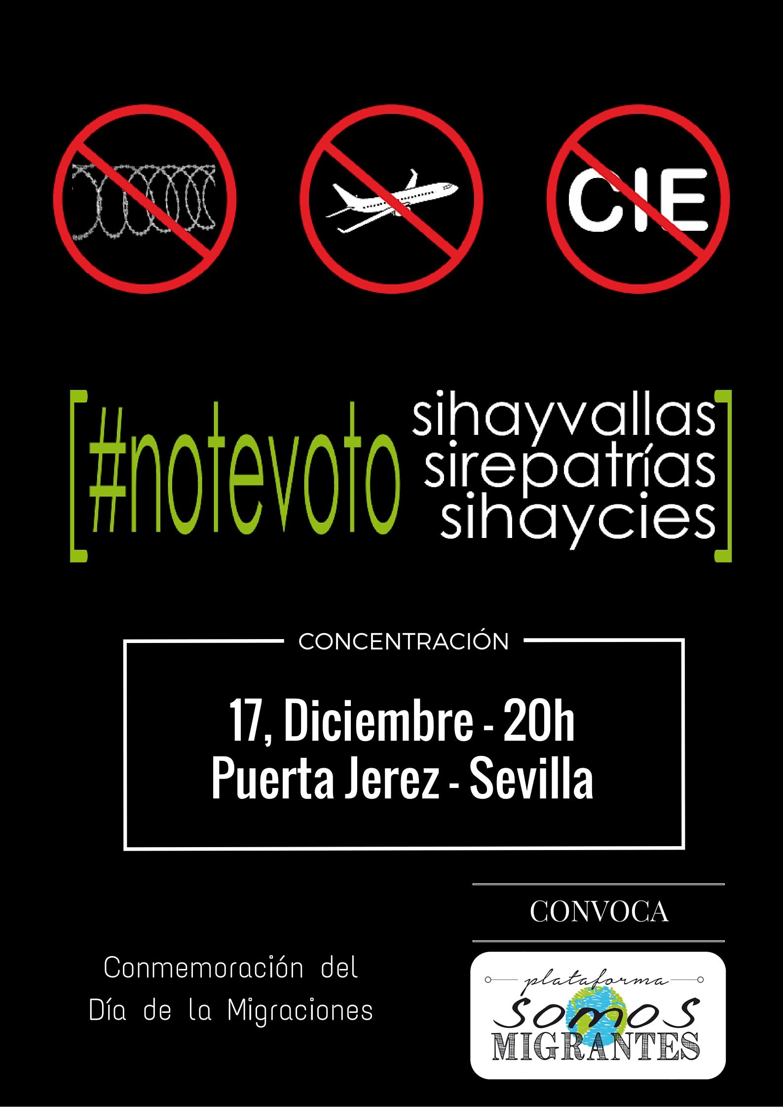 cartel concentración 17 diciembre