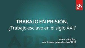 Portada de la presentación de la charla de Valentín Aguilar