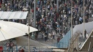 La frontera ceutí vivió la pasada semana graves incidentes / EFE