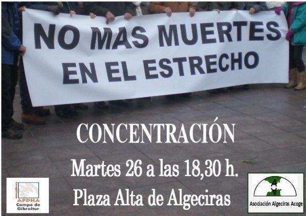 Campo Gibraltar: Concentración 'No más muertes en el Estrecho'