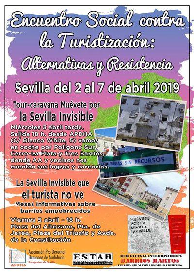 """Sevilla: """"Muévete por la SEVILLA INVISIBLE que el turismo no ve"""" Caravana y mesas informativas"""
