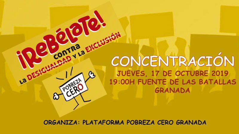 Granada: Pobreza Cero 'Rebélate contra la desigualdad y la exclusión'