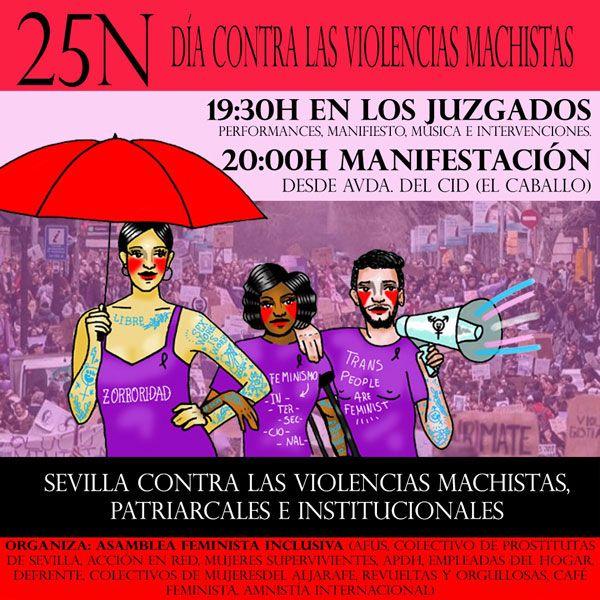 Resultado de imagen de manifestación contra la violencia machista Sevilla 2019