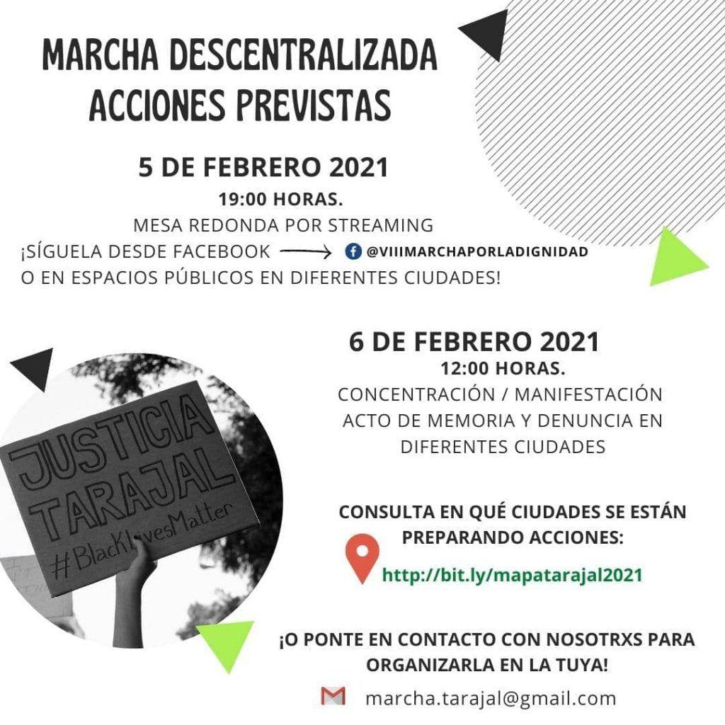 Marcha descentralizada Tarajal Ceuta: acciones previstas