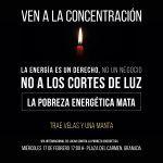 No a los cortes de luz, la pobreza energética mata